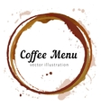 Coffee stain circles vector image vector image