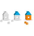 brick houses vector image
