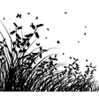 Grass silhouettes vector