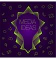 idea in light bulbs flat style vector image