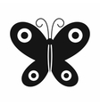 Butterfly icon black simple style vector image