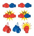 Boxing Gloves Red and Blue vector image
