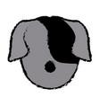 dog face animal head pet domestic vector image