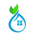 Eco house abstract vector image