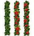 Green Christmas garlands vector image