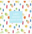 watercolor balloons seamless holiday pattern vector image