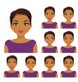 woman emotion set vector image