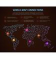 world polygonal map communication vector image vector image