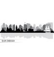 san diego city skyline silhouette background vector image