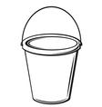 bucket with handle vector image vector image