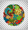 ethnic doodle floral circle like pattern vector image