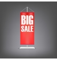 Big sale Vertical red flag at the pillar vector image vector image