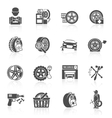 Tire service icon black vector image
