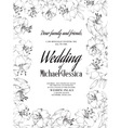 Wedding card with lily flowers vector image vector image