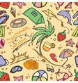 Doodle pattern summer vacation vector image