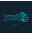 Human Arm Hand Model Hand 3D Geometric Design vector image
