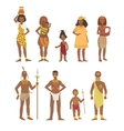 African National Tribal Outfit Collection vector image