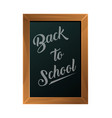 back to school text on blackboard icon vector image