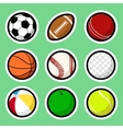 Ball stickers vector image