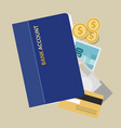 bank account book statement paper money finance vector image