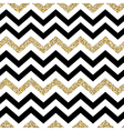Chevron seamless pattern Glittering golden surface vector image