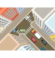 Crossroads in the city top view vector image