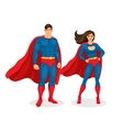 Superhero Couple vector image