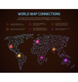 world polygonal map communication vector image