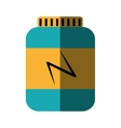 bottle proteins product isolated icon vector image