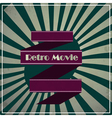 retro movie background vector image vector image
