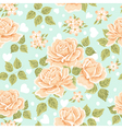Seamless wallpaper pattern with roses vector image vector image