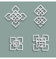 3d ornaments in arabic style vector image