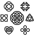 Variety of celtic knots vector image