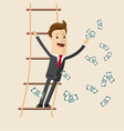 businessman with money in his hand stand on the vector image