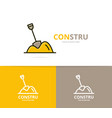 pile of sand logo design template vector image