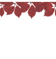 Red Leaves Border vector image