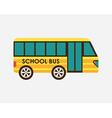 school bus design vector image