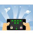 smart phone online gaming vector image