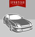 Sport car perspective silhouette view vector image