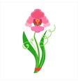 Single Orchid Flower Bouquet Tied With Red Ribbon vector image