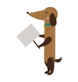 Dog animal strike with clean plate board vector image