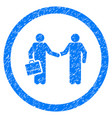 contract meeting rounded grainy icon vector image