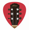 guitar neck icon in mediator form vector image