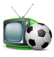 soccer channel vector image vector image