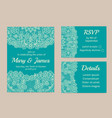 set of cards vector image