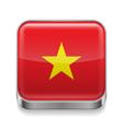Metal icon of Vietnam vector image