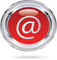 email red glass resize vector image