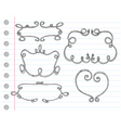 Hand drawn ornamental frames Vector Image