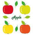 Apples isolated objects vector image vector image
