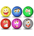 Facial expressions on round balls vector image